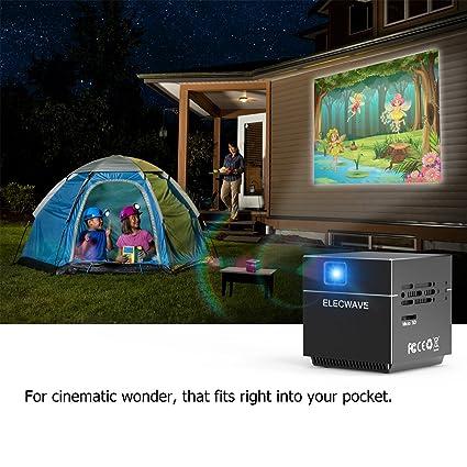 Cube vídeo proyector DLP con 120 Pulgadas Pantalla Soporte 1080 p ...
