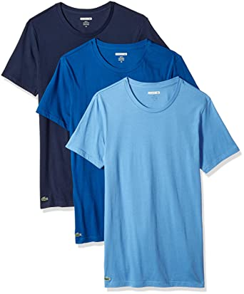 fa1339c4926099 Lacoste Men s 3 Pack Slim Fit Crew Neck tee