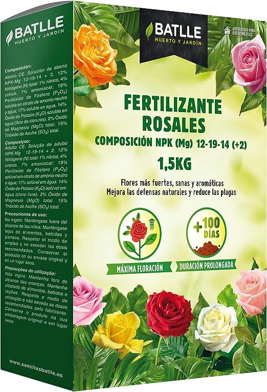 Abonos - Fertilizante Rosales Caja 1, 5 Kg - Batlle: Amazon.es: Jardín