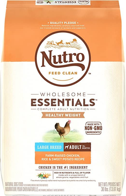 Nutro Wholesome Essentials Healthy Weight Adult Dry Dog Food - Best Weight Management Food for Dogs with Hypothyroidism