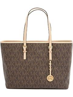 b70ea95a7277e7 Michael Kors Harper Large East West Tote Bag Handbag Chocolate Brown ...