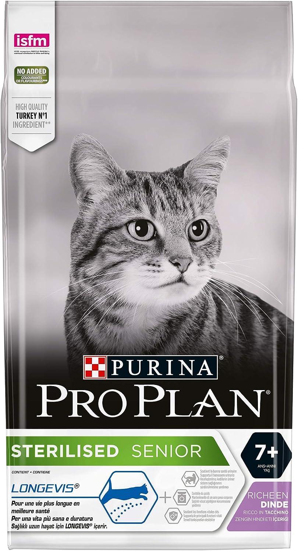 Purina ProPlan Esterilizado pienso para Gato Senior +7 Pavo 6 x 1,5 Kg: Amazon.es: Productos para mascotas
