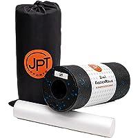 JPTsports 2-in-1 fasciarol incl. eBook & praktische draagtas | hoogwaardige massagerol voor rug, benen, wervelkolom…