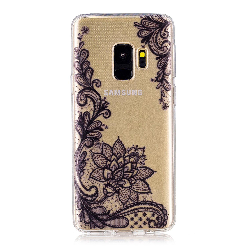 Samsung Galaxy S9 Hülle,Galaxy S9 Transparent Silikon Hülle ,Galaxy S9 Schutzhülle,Roreikes Ultra Dünn Sehr Transparent Soft TPU Silikon Handyhülle Kreative Muster Schutzhülle Weich Cover Handytasche Case Protector von Scratch, Abstößt,Staub für Galaxy S9