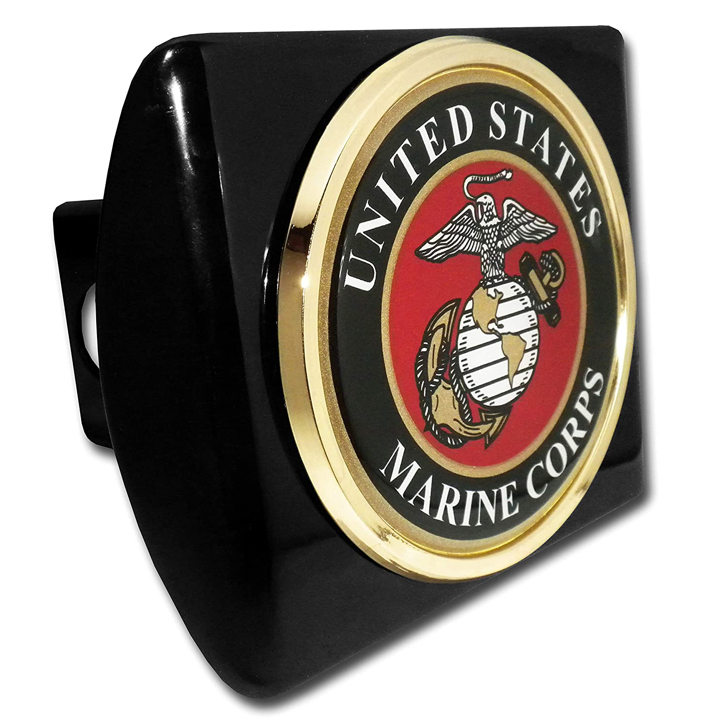 Elektroplate Marines Premium Gold Anchor Brushed Metal Hitch Cover