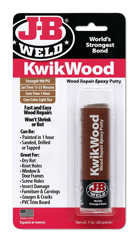 JB Weld 8257 1 Oz Kwikwood Epoxy Putty Stick - - Amazon.com