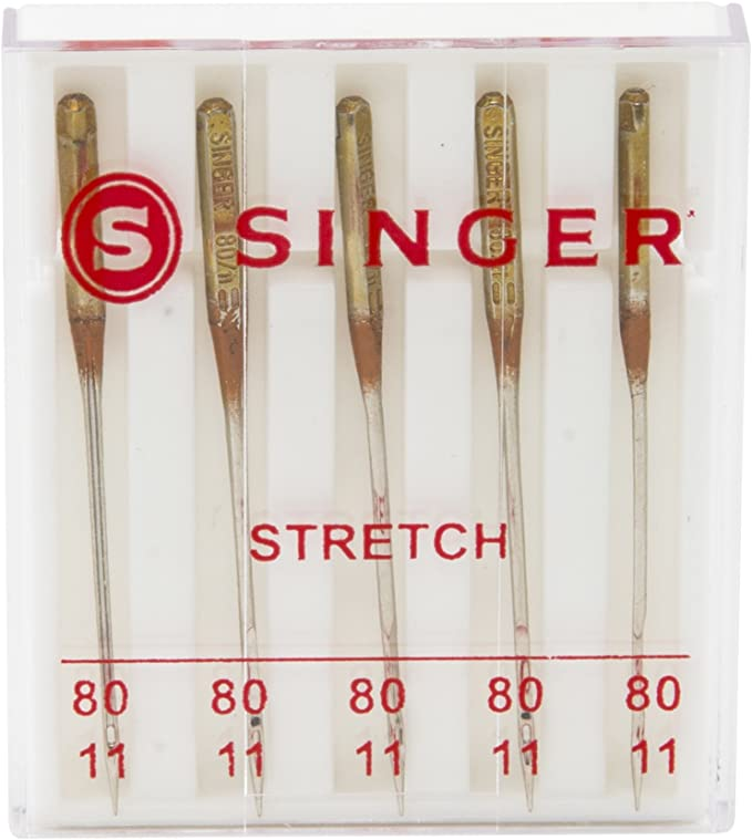 Size 80//11 5-Count SINGER 04720 Universal Stretch Sewing Machine Needles