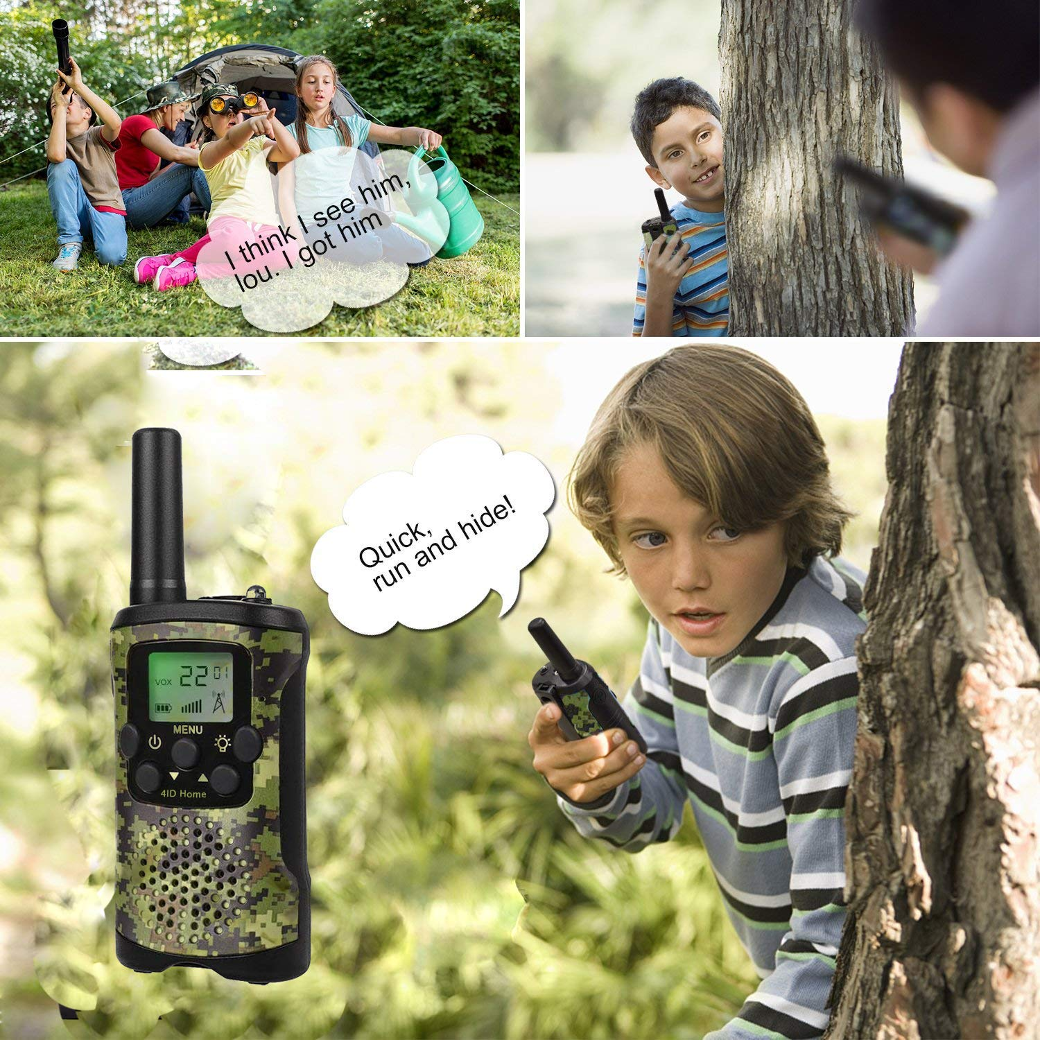 Ideahome Kids walkie talkies Binoculars Toys - Kids' Binocular 2 Way radios walkie Talkie 3 Miles Long Range walky Talky Children Outdoor Toys Best Gifts for Boys and Girls (camo) by Ideahome (Image #5)