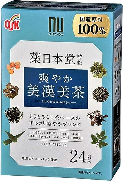 OSK薬日本堂監修 爽やか美漢美茶(4.5g×24袋) ×2個 ティーバッグ