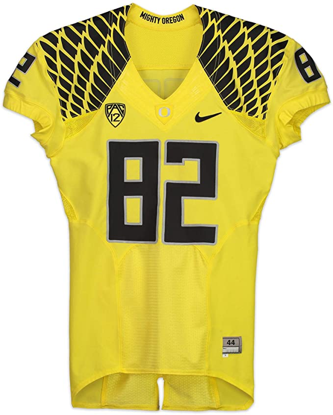 uk availability abb69 f6364 Oregon Ducks Team-Issued #82 Yellow