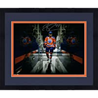 """$577 » Framed Connor McDavid Edmonton Oilers Autographed 16"""" x 20"""" Tunnel Vision Photograph - Upper Deck - Autographed NHL Photos"""