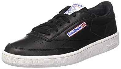 Marques Chaussure homme Reebok homme Club C 85 So Black/White/ Vital Blue/Primal Red/Ash Grey