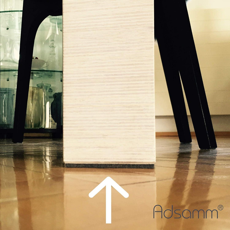 25x25 mm Adsamm/® 440 x patins en feutre//noir//diff/érentes tailles///Ø 28 mm///Ø 20 mm 3,5 mm hauteur ///patins glisseurs auto-adh/ésifs de qualit/é optimale