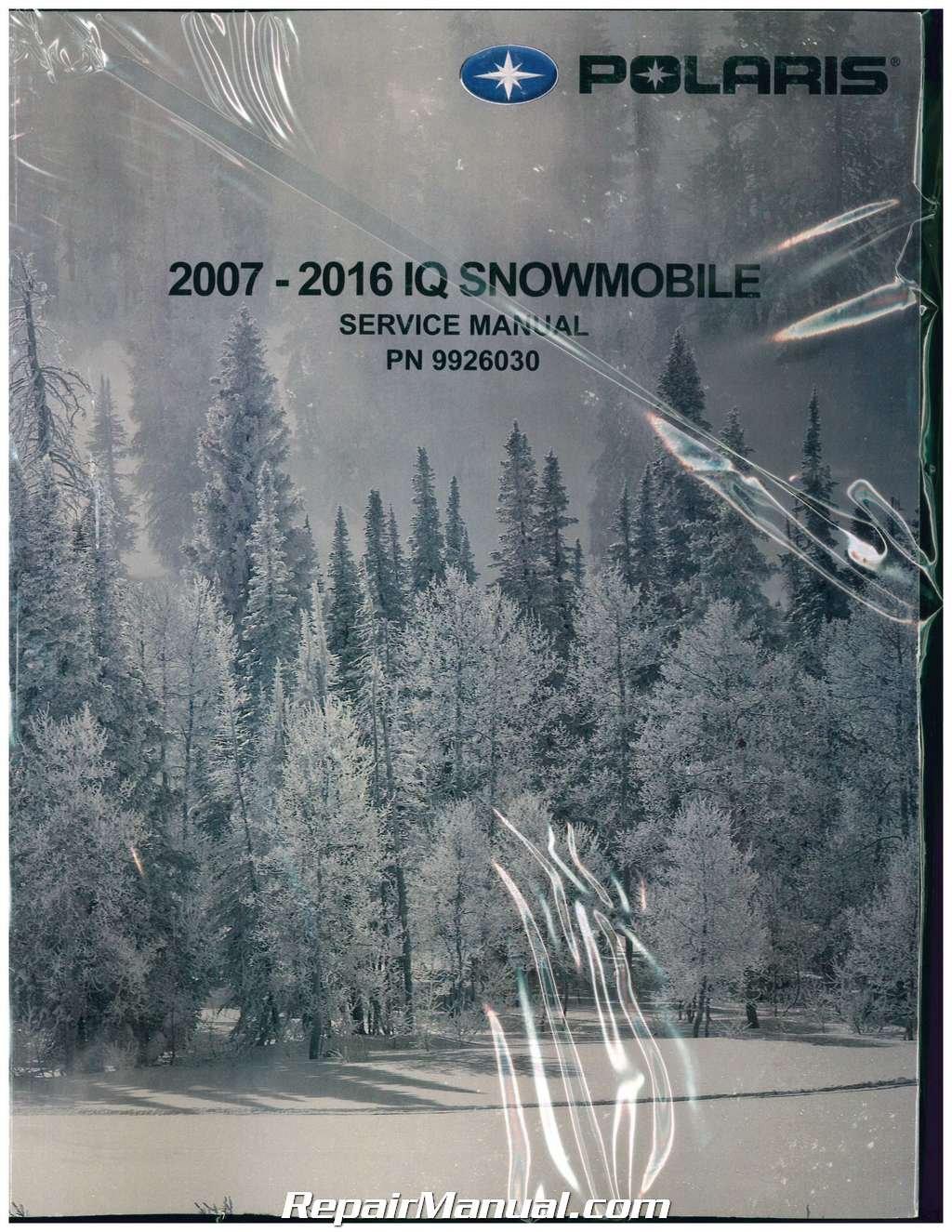 9926030 2007 2016 Polaris Iq Snowmobile Service Manual Manufacturer Wiring Diagram 2009 600 Shift Books