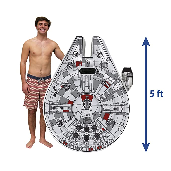 Amazon.com: Flotador Swimways Star Wars Millennium Falcon ...