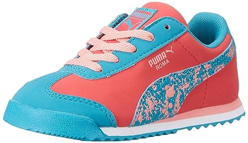 9cbe49a72e3 PUMA Roma Splatter Kids Sneaker (Toddler Little Kid)