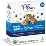 Plum Organics Mighty Morning, Organic Toddler Bar, Blueberry Lemon, 3.35 Ounce (Pack of 8)