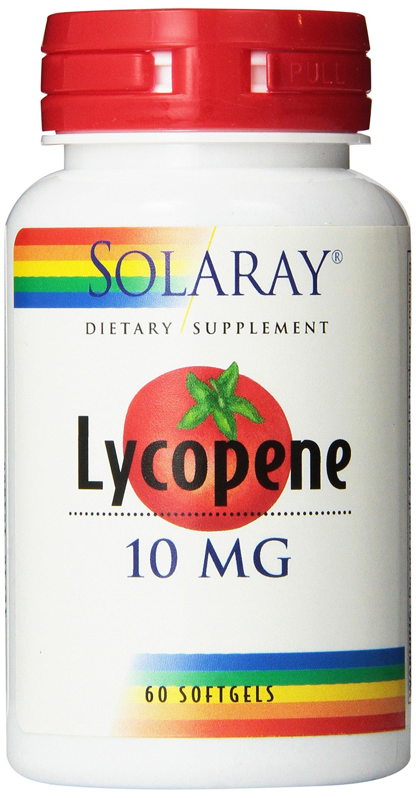 Solaray Lycopene Supplement, 10 mg, 60 Count