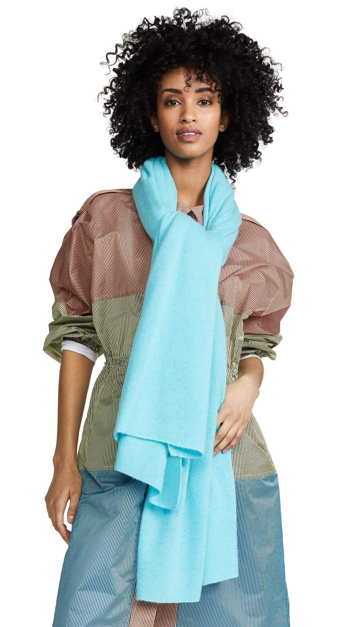 White + Warren Women's Travel Wrap Cashmere Scarf, Bright Aqua, One Size