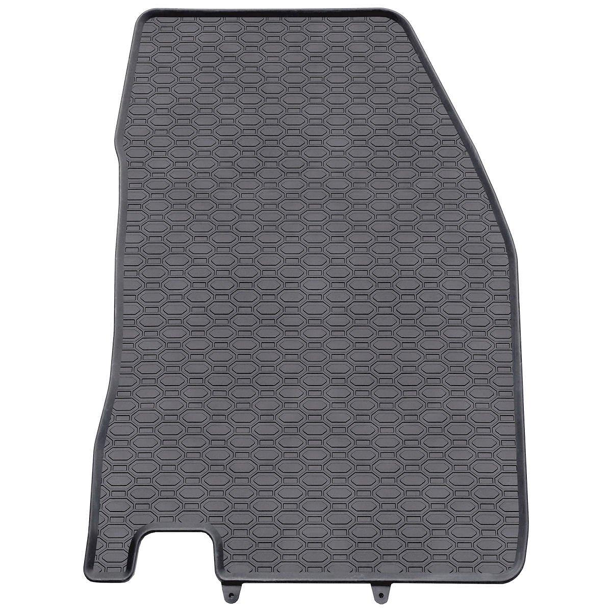 5902538448253 Tapis de sol caoutchouc ajustement parfait Set de 4 tapis de pieds noire
