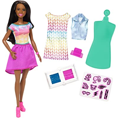 ​Barbie and Crayola Color Stamp Diy Doll Clothes for Barbie, Doll & Playset, 15+ Pieces: Toys & Games