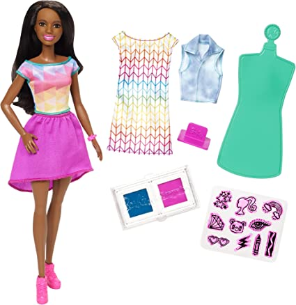 Amazon Com Barbie Crayola Color Stamp Fashion Toys Games