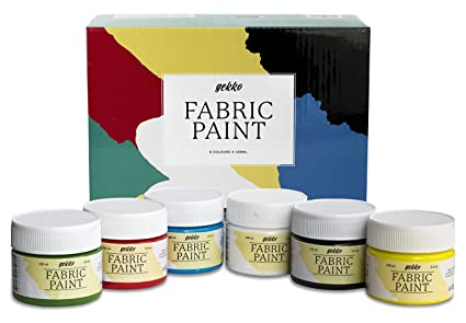 Pintura para Tela y Ropa Calidad Profesional Gekko by Nazca - 6 Colores x 100ml - Set de Pintura Textil Permanente con Gran Capacidad de Cobertura ...