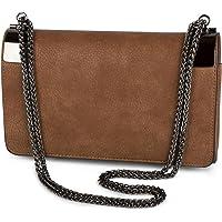 styleBREAKER Bolso de Mano Clutch, Bolso de Fiesta con pasadores de Metal y Cadena de eslabones, diseño Vintage, señora…
