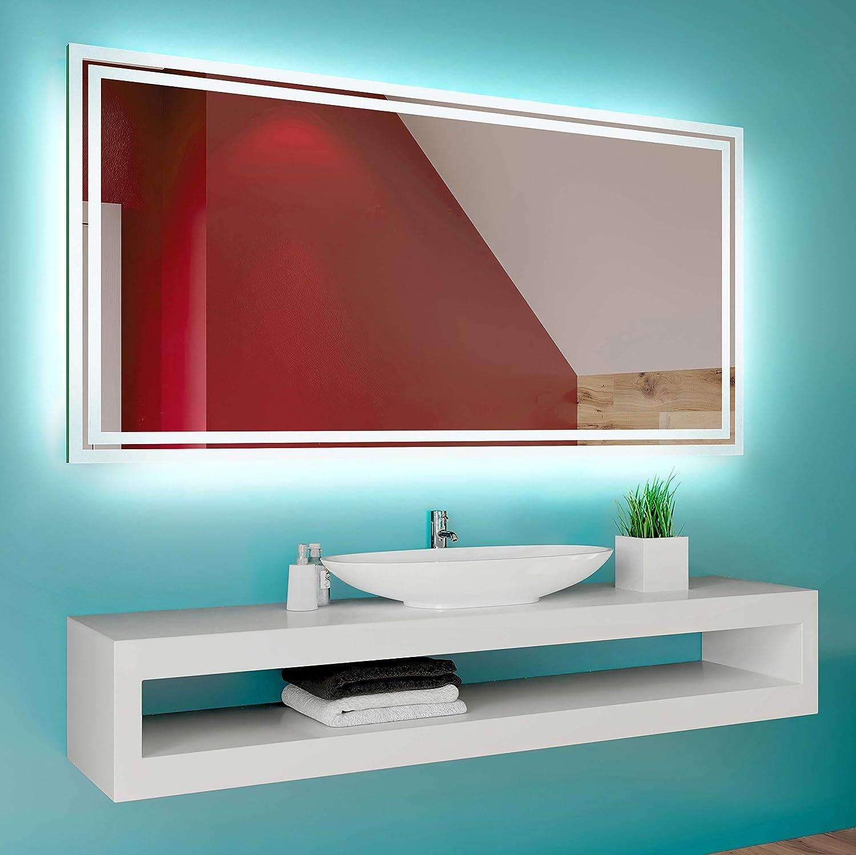 LED Lumineux Miroir avec Éclairage intégré L16 FORAM Moderne
