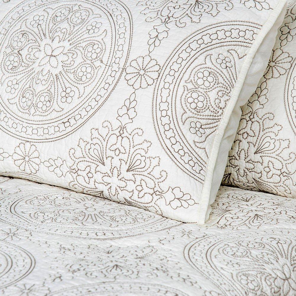 20x 26 Elegant Life Medallion Standard Pillow Shams Standard Grey