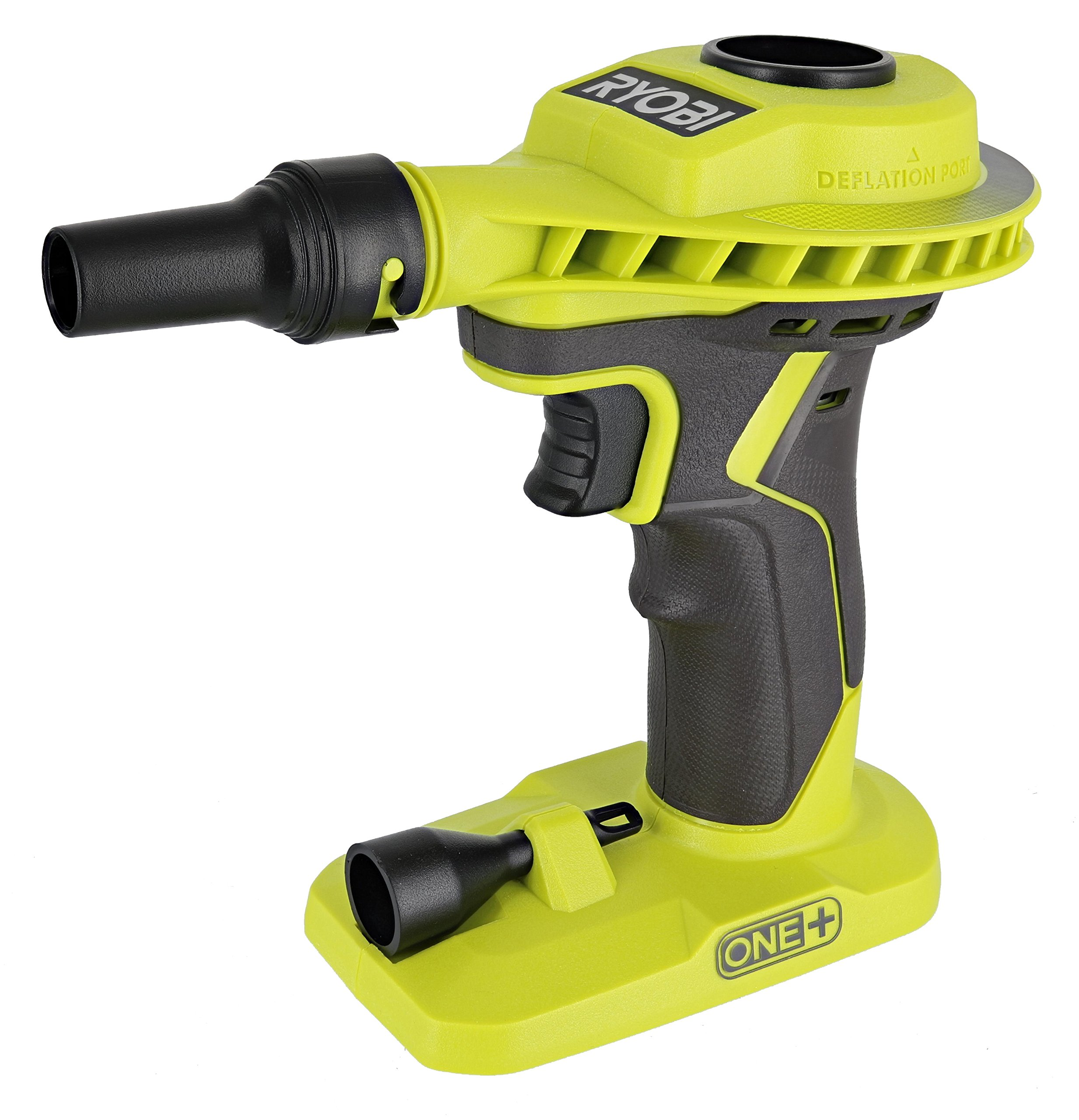 Ryobi P738 18V One+ Lithium Ion 18V One+ High Volume Power Inflator / Deflator for Mattresses and Recreational Inflatables by Ryobi