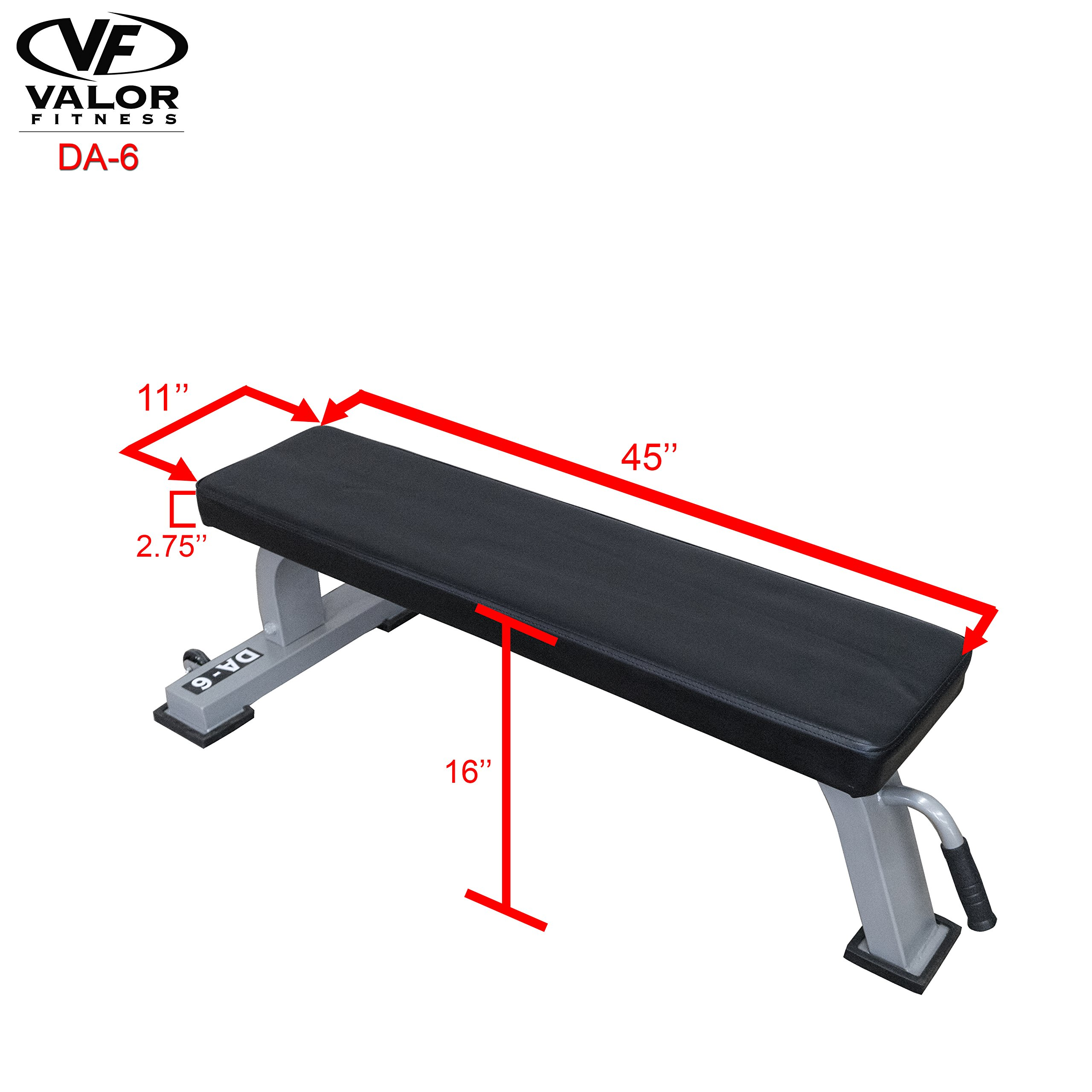 Valor Fitness DA-6 Flat Bench by Valor Fitness (Image #6)