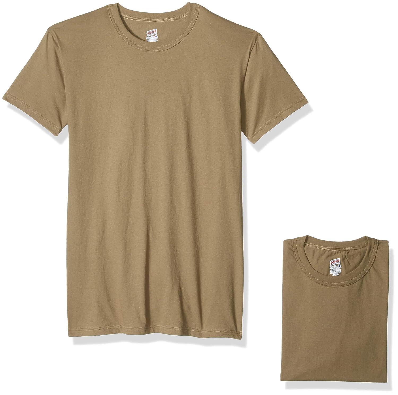 7605e66d9 Soffe Men's 100% Soft Spun Cotton Short Sleeve T-Shirt 3 Pack at Amazon Men's  Clothing store: