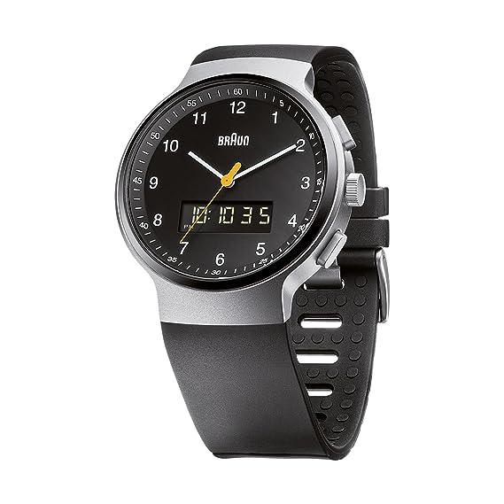 Braun BN0159SLBKBKG - Reloj de pulsera analógico unisex de cuarzo silicona 66562: Amazon.es: Relojes
