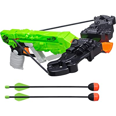 Nerf Zombie Strike Wrathbolt - Defend Against the Zombified Attackers with Your Sniper Crossbow - Load, Aim, and Fire the 2 Included Darts - Arrows Whistle When Fired - Ages 8 and Up, Play Safe: Toys & Games