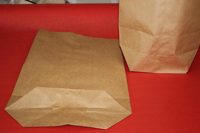 Bodenbeutel aus Papier 250 St/ück braun 280 x 400 mm 70 g//m/² unbedruckt Papierbeutel
