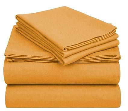 Amazon.com: PH 3 Piece Twin XL Pumpkin Orange Sheet Set, Casual
