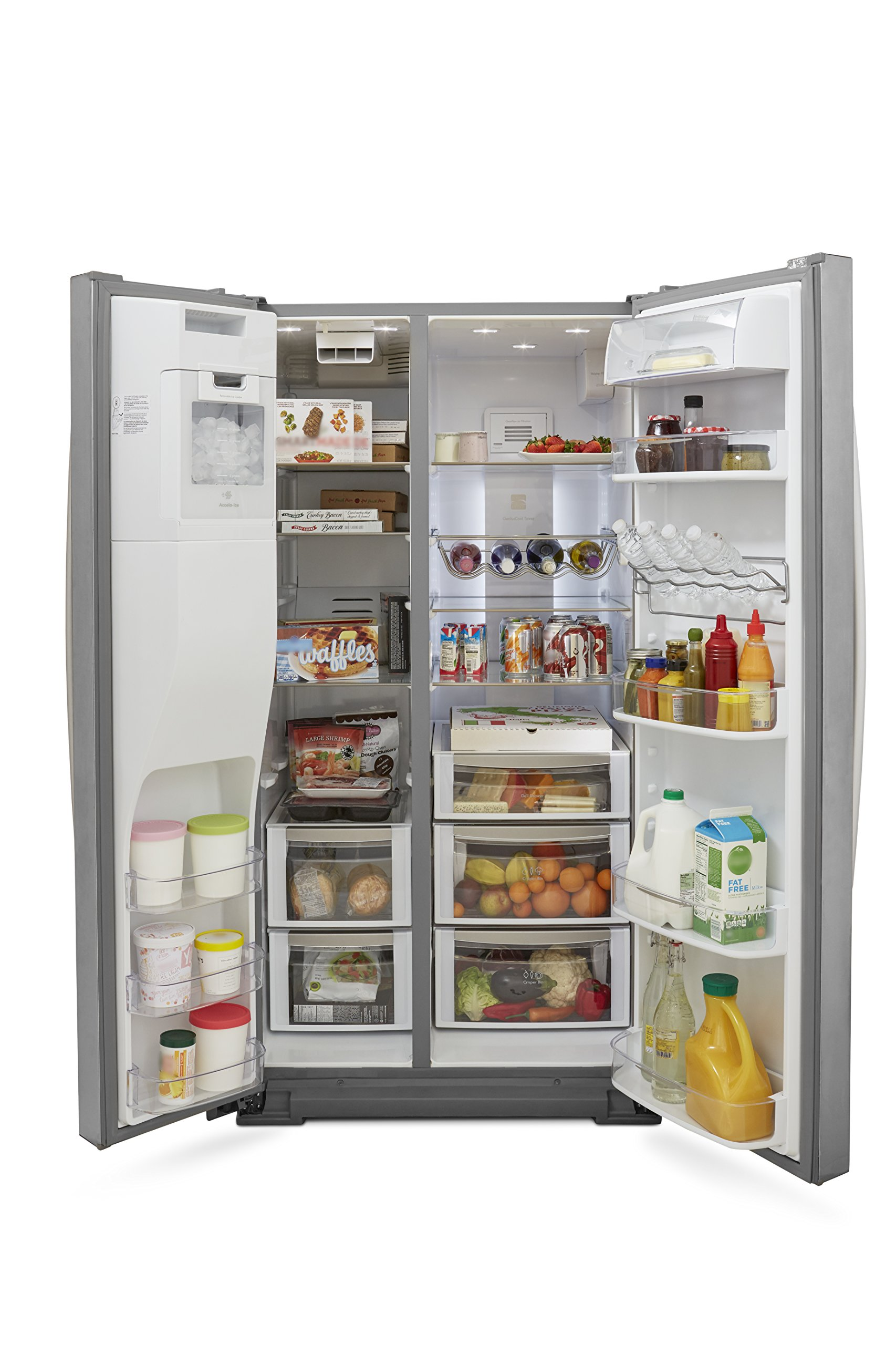 Kenmore Elite 51773 28 cu. ft. Side-by-Side Refrigerator with Accela Ice Technology in Stainless Steel, includes delivery and hookup (Available in select cities only) by Kenmore (Image #7)
