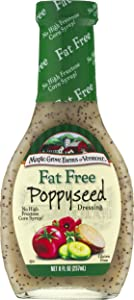Maple Grove Farms Fat Free Salad Dressing, Poppyseed, 8 Ounce (Pack of 12)