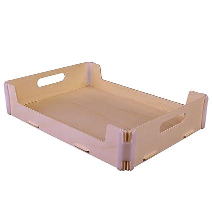 Pack de 3 bandejas - Madera y plástico - Montaje manual tipo puzzle - Ideal también