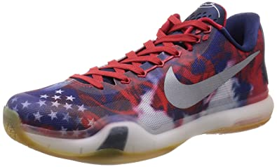 outlet store e6c78 17451 NIKE Men s Kobe X Unvrsty Red RFLCT Slvr PHT Bl Basketball Shoe 8 Men