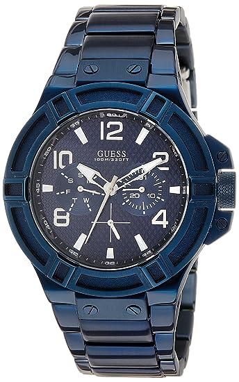 Guess Reloj analogico para Hombre de Cuarzo con Correa en Acero Inoxidable  W0218G4  Guess  Amazon.es  Relojes 1fa6245e88f1