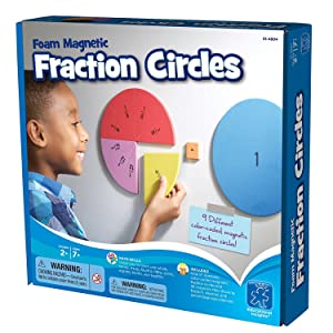 Educational Insights Foam Magnetic Fraction Circles