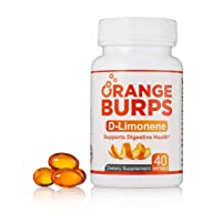 MIH Products | Orange Burps D-Limonene Softgels | All-Natural Orange Peel Extract...
