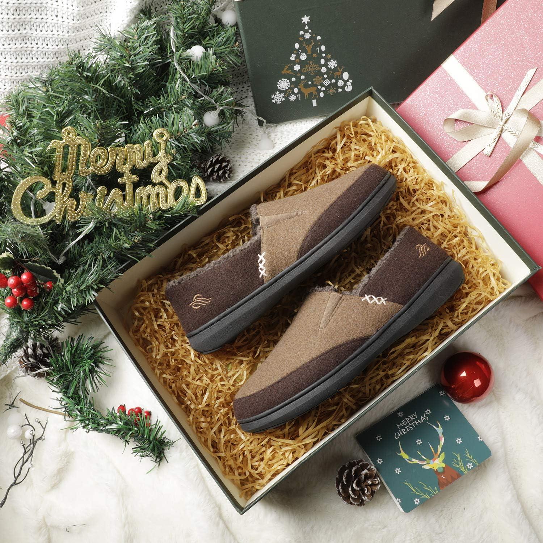 pour Homme Confortables et Chaud avec Doublure int/érieure en Fourrure Zigzagger Chaussures Type Mocassin