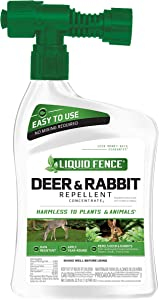 Liquid Fence HG-75044 Deer and Rabbit Repellent Concentrate, 32-Oz Ready to Spray