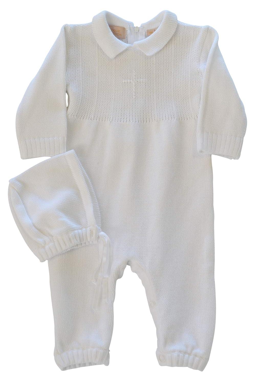 Amazon.com: Baby Boy de bautizo Outfit con Bonnet gorro ...