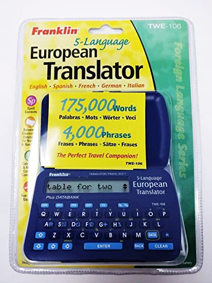 Franklin 5 Language Europea Traductor Twe 106 175000