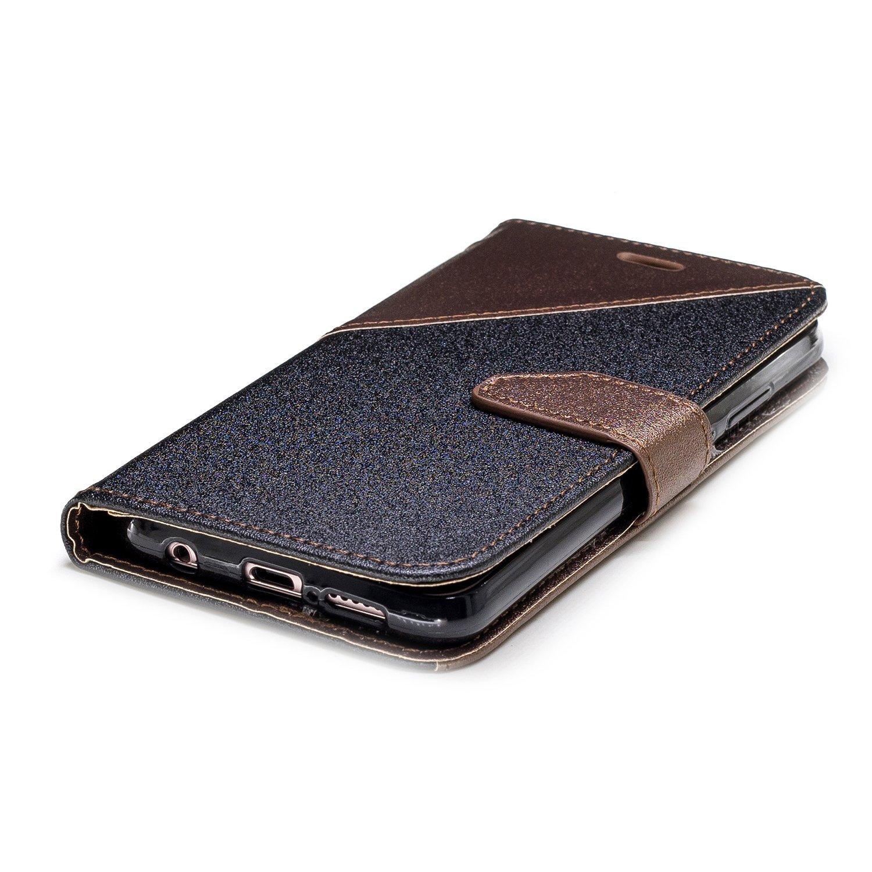 pratique mignon /à la mode color/é Cool Motif Premium PU Cuir pliante Housse Etui Coque P Huawei Coque P20/Lite protection d/écran en verre tremp/é Flymaff magn/étique Flip Book Style Coque de haute qualit/é +