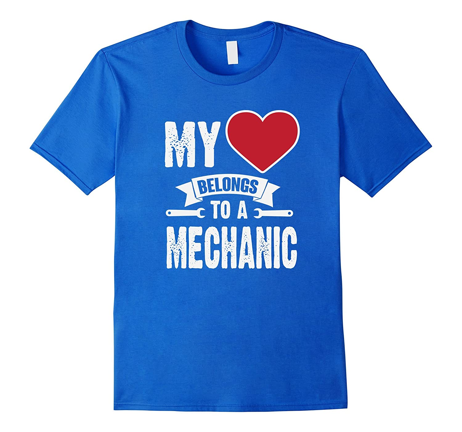 My Heart Belongs To An Auto Mechanic T-Shirt-FL